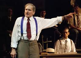 review inherit the wind kpbs robert foxworth plays henry drummond in the globe s