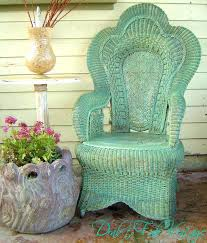 vintage wicker patio furniture. Green Wicker Furniture Outdoor With Cushions Patio Vintage . 3