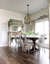 dining room tile flooring. cottonstem.com farmhouse dining room table decor wood tile floors flooring
