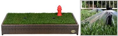 perfect for a patio or deck with a garden hose nearby use real training sod or the included synthetic grass