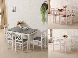 sentinel westwood quality solid wooden dining table and 4 chairs set kitchen home ds03