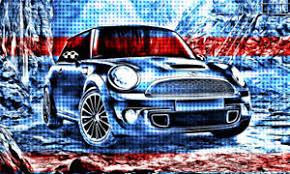 Poster Xxl Pop Art Graffiti Mini Cooper Bmw Abstrakt Poster 150x90 Ebay