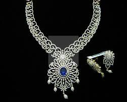 interchangeable stone indian diamond necklace set