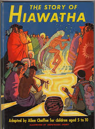 best people hiawatha images native american  vintage 1951 the story of hiawatha book adapted by allen chaffee illustrations armstrong