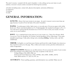 8x10 Resume Paper Wonderful Headshot Resume Format Download For Actors 22