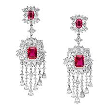 genevieve black tie omega clip red earrings ciro jewelry genevieve collection brilliant jewels of