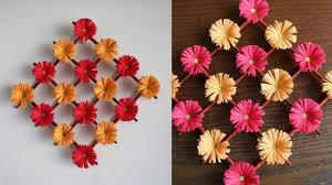 Flower Wall Paper Paper Flower Wall Hanging Diy Hanging Flower Wall Decoration Ideas