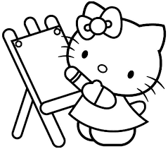 Printable Free Cartoon Hello Kitty Coloring Pages For Kids