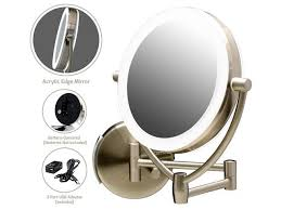 ovente wall mount lighted makeup mirror