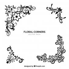 vector floral corners free vector on flowers wall art decor vector with vector floral corners vector free download