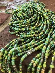 Aja   Green Goddess Tribe Bead ( single strand ) – Tiny.Blk.Grdn