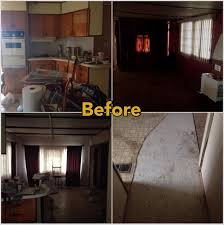 before mobile home makeover