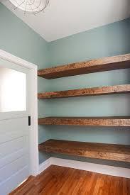 diy floating wood shelves in the work via yellow