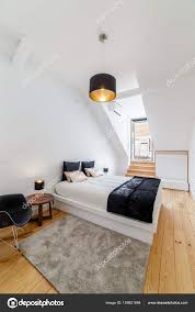 Light Wood And White Bedroom Modern Apartment With White Walls And Light Wooden Floor