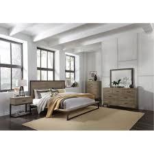 industrial bedroom furniture. Industrial Modern Pine \u0026 Metal 6 Piece King Bedroom Set - Edgewood Furniture L