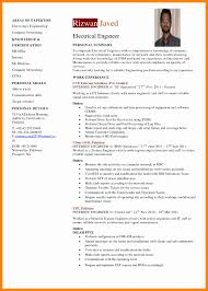 Resume Template Mechanical Engineer Cv Template Lovely 9 Electrical