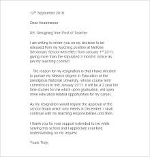 format of a resignation letter for a teacher writing to inform you on my decision to be released from my teaching position mid year teacher resignation letter example