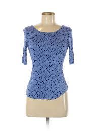 Details About Apt 9 Women Blue Short Sleeve Top Xs Petite