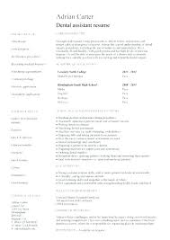 Example Of A Dental Assistant Resume – Resume Web