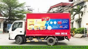 Quảng cáo trên xe tải Cty Cp Bánh Kẹo Phạm Nguyên 2018