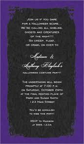 Black And Purple Invitations Eerie Grunge Frame Black Purple With Black Bow Halloween Invitations