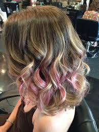 Pink Tips On Ombré Hair
