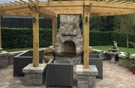 paver fireplace pergola and a fireplace a paver stone fireplace plans
