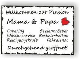 Details Zu Schild Vintage 30x20cm Pension Mama Papa Sprüche Wanddeko Türschild Geschenk V6