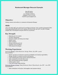 Resume Restaurant Manager Restaurant Manager Resume Sample Free 54 Restaurant Resume