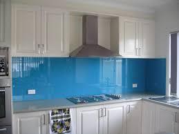 picture glass splashback blue