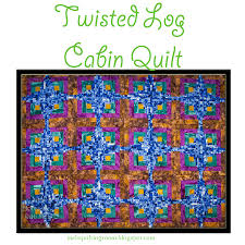 twisted log cabin quilt the quilting room with mel