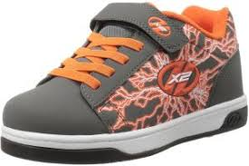 Heelys Boys Dual Up X2 Sneaker Charcoal Orange 3 M Us Little Kid