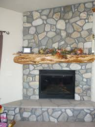 Cool River Rock Fireplace Mantel Pictures Inspiration ...