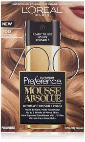Loreal Paris Hair Color Superior Preference Mousse Absolue 700 Pure Dark Blonde