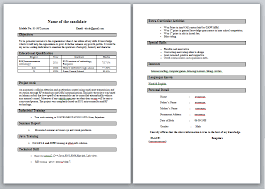 Simple Resume Format For Freshers Resume Models In Word Format