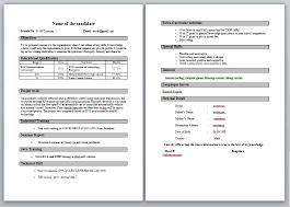 Cv Resume For Freshers Mba Finance Fresher Resume Template 2 Career