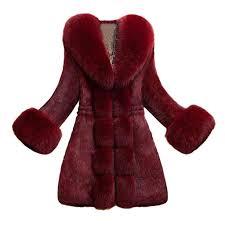 Aihihe Womens Faux Fur Coats Jackets Plus Size Parka Long
