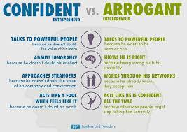 Confidence Vs Arrogance Chart Entrepreneur Business