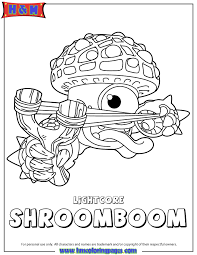 Small Picture Skylanders Giants Life Lightcore Shroomboom Coloring Page H M