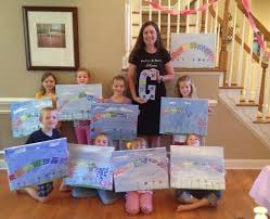our kids painting parties receive the same vip treatment as our painting parties we use all of the same high quality materials and all of our artists