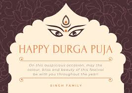 Greeting Card Samples Traditional Durga Puja Greeting Card Templates By Canva