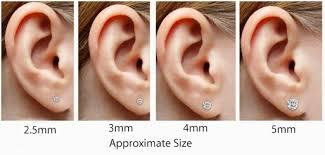 Mm Earring Chart Stone Size Chart Mm Earrings Lamevallar