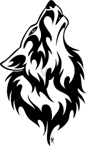 tribal wolf howling silhouette. Tribal Wolf Howls Of Wolves Throughout Howling Silhouette