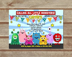 Lil Monster Birthday Invitations Amazon Com Monster Invitation Cute Little Monsters Birthday Party