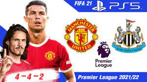 FIFA 21 [PS5] แมนยู vs นิวคาสเซิล | ผีจัด 4 - 4 - 2 โรนัลโด้ + คาวานี่ !!  พรีเมียร์ลีก 2021/22 - YouTube
