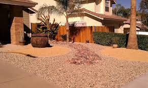 Xeriscape Design-different colors,textures,sizes of decorative gravel with  concrete borders