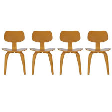 mid century modern bentwood dining chairs by thonet after charles eames dcw for