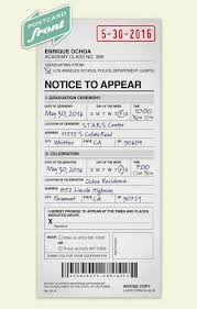 Customization Police Citation Postcard
