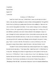 white heron essay an analysis of a white heron sarah orne   a white heron centers on w04h2whiteheron 3 pages w04h3analysis