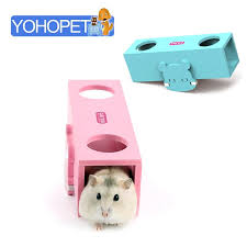 hatchimals toy for small pets guinea pig toys passage diy seesaw barrel hamster wooden toys pink blue chinchilla toy tunnel